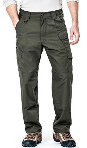 TLP103-GRN_30W/30L CQR Men's Tactical Pants Lightweight Assault Cargo TLP-103