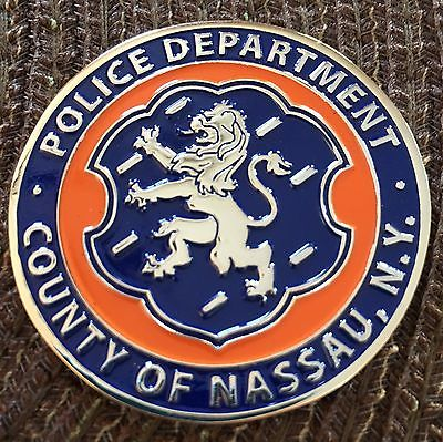 Nassau County New York Firearm Training Police Challenge Coin Not NYPD