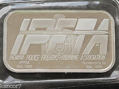 2007 Indiana Police Firearms Training Association Silver Art Bar C4548