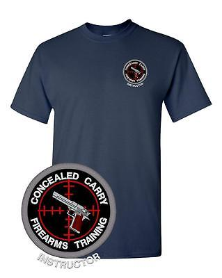 Concealed Carry Firearms Training Instructor Tee Embroidered Police Sheriff LEO