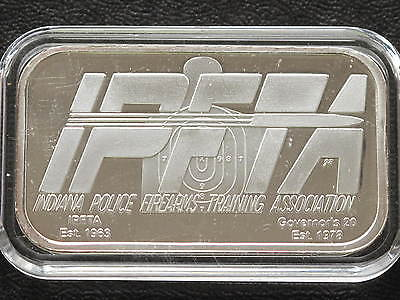 2005 Indiana Police Firearms Training Association Silver Art Bar C4550
