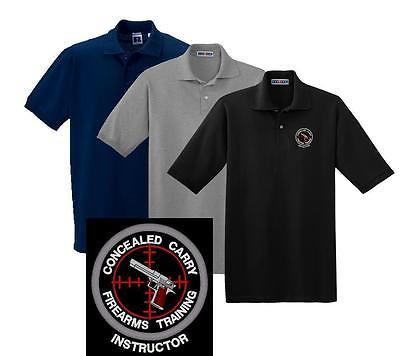 Concealed Carry Firearms Training Instructor Polo Shirt M-5X Police Sheriff