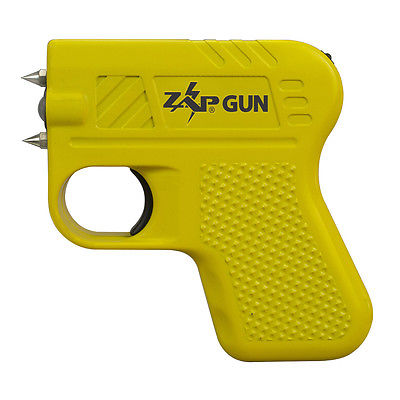 Zap Stun Gun, Pistol-Grip Shape For Self Defense, Protection, Security, Safety